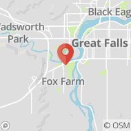 Map to 1538 Meadowlark Drive, Great Falls, MT 59405