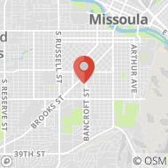 Map to 715 Kensington Avenue, Missoula, MT 59801