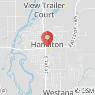 Map to 99 Marcus Street, Hamilton, MT 59840