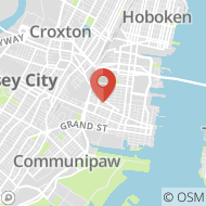 Map to 381 Monmouth Street, Jersey City, NJ 07302