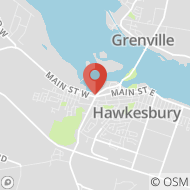 Map to 1 Main Street East, Hawkesbury, ON K6A1A1