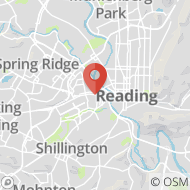 Map to 550 Penn Avenue, West Reading, PA 19611