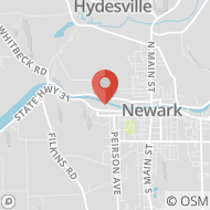 Map to 513 West Union St, Newark, NY 14513