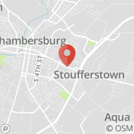 Map to 1047 Lincoln Way E, Chambersburg, PA 17201