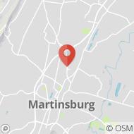 Map to 115-3 Aikens Center, Martinsburg, WV 25404