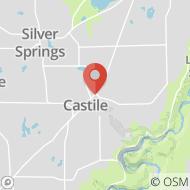Map to 59 North Main Street, P.O. Box 218, Castile, NY 14427