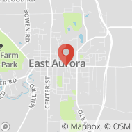 Map to 253 Main Street, (temporary location), East Aurora, NY 14052