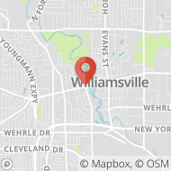 Map to 5528 Main Street, Williamsville, NY 14221