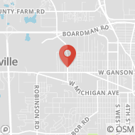 Map to 740 Laurence Avenue, Jackson, MI 49202