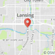 Map to 1000 South Washington Avenue, Lansing, MI 48910