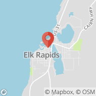 Map to 100 River Street, Suite 3, Elk Rapids, MI 49629