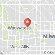 Map to 6027 W Vliet St, Wauwatosa, WI 53213