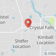 Map to 106 Sheldon Avenue, Crystal Falls, MI 49920