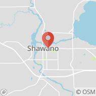 Map to 517 E. Green Bay St., Shawano, WI 54166