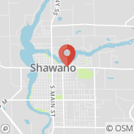 Map to 517 E. Green Bay St., Shawano, WI 54166