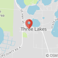 Map to 1769 Superior St, Three Lakes, WI 54562