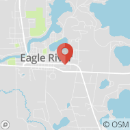 Map to 1078 Wall St., Eagle River, WI 54521