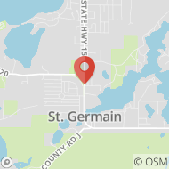 Map to 408 HIghway 70, PO Box 39, St. Germain, WI 54558