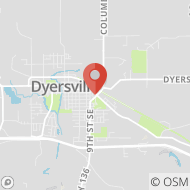 Map to 1021 2nd Avenue SE, Dyersville, IA 52040