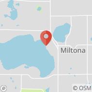 Map to 15016 Walnut Lane NE, Miltona, MN 56354