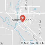 Map to 544  1st St. SW, Montevideo, MN 56265