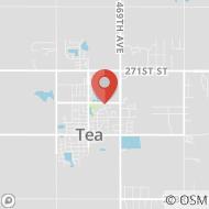 Map to 405 East Brian Street, Tea, SD 57064