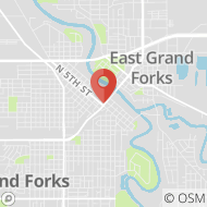 Map to 416 DeMers Ave, Grand Forks, ND 58201