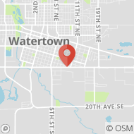 Map to 1001 9th Ave SE, Watertown, SD 57201